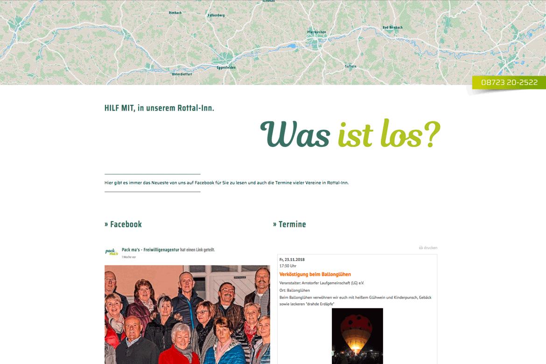 Website Homepage pack ma's Freiwilligen Agentur Rottal-Inn