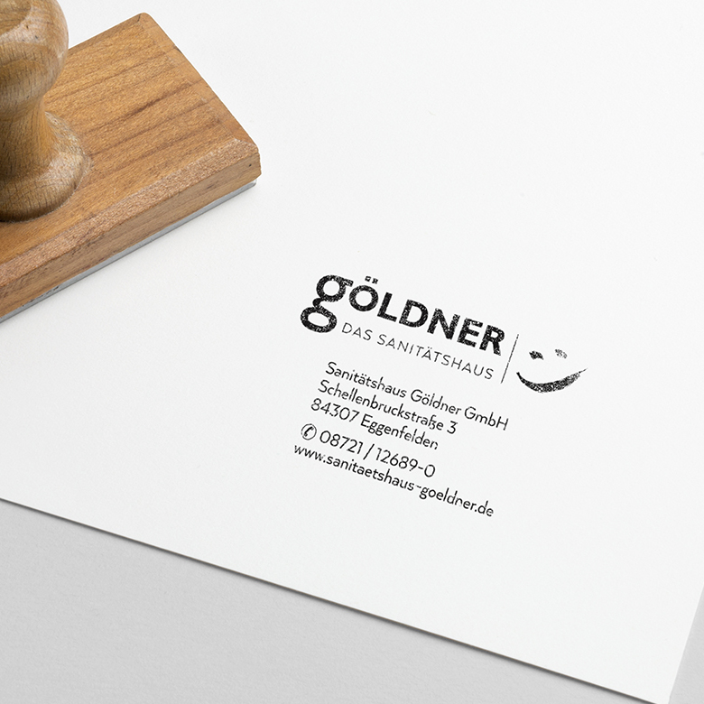 Sanitätshaus Göldner Corporate Design Stempel